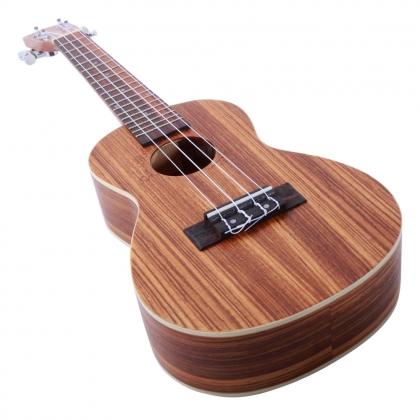 "Glarry UK302 23/"" Concert Rosewood Fingerboard Matte Zebra Wood Practice Ukulele"