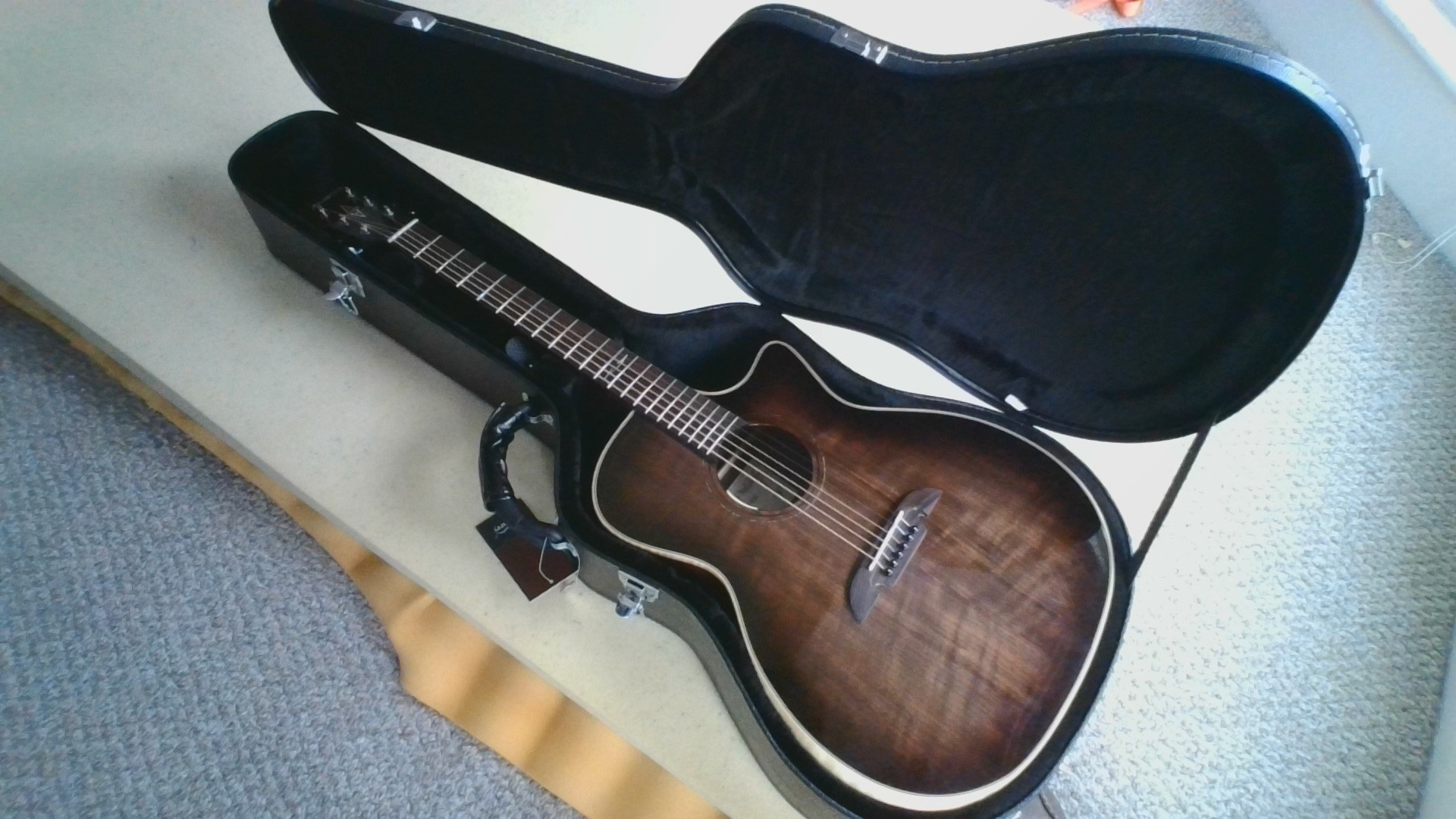 Reviews Of Glarry 41inch Folk Guitar Flat Surface Leather